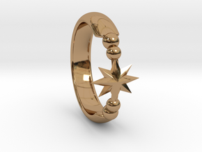 Ring of Star 15.3mm in Polished Brass