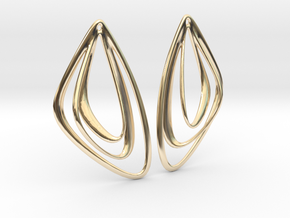 The Minimalist Earrings Set I (1 Pair) in 14k Gold Plated Brass