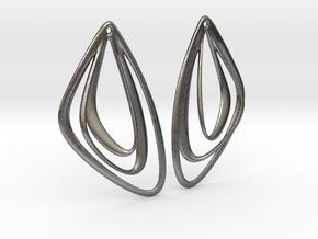 The Minimalist Earrings Set I (1 Pair) in Polished Nickel Steel