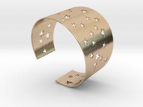 Starry Night Bracelet Ø68 mm L/2.677 inch in 14k Rose Gold Plated Brass