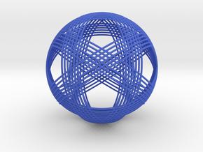 Woven Sphere in Blue Processed Versatile Plastic