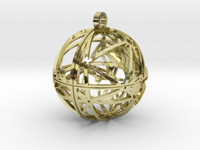 Craters of Rhea Pendant in 18K Gold Plated