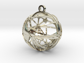 Craters of Mimas Pendant in 14k White Gold