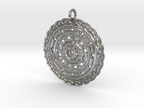 Celtic Mandala in Natural Silver