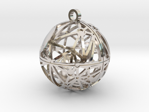 Craters of Tethys Pendant in Rhodium Plated Brass