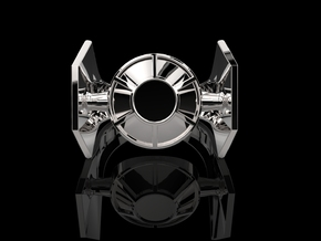 Imperial TIE Advanced x1 in Fine Detail Polished Silver: 9 / 59