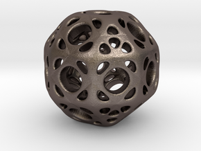 hydrangea ball 01 in Polished Bronzed Silver Steel