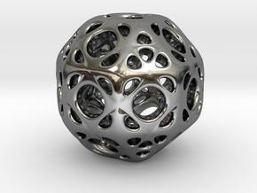 hydrangea ball 01 in Fine Detail Polished Silver