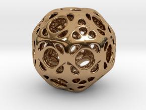 hydrangea ball 01 in Polished Brass