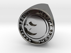 Custom Signet Ring Rebel Legion Size 6 in Fine Detail Polished Silver