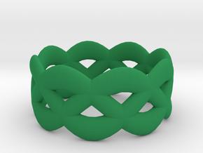 Turk's Head Ring in Green Processed Versatile Plastic