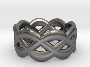 Turk's Head Ring in Polished Nickel Steel