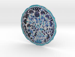 Blue and turquoise Iznik Cini  in Full Color Sandstone