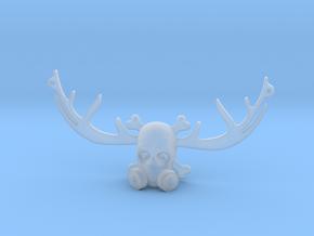 BADAS horns pendant in Smooth Fine Detail Plastic