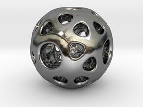 hydrangea ball 02 in Fine Detail Polished Silver