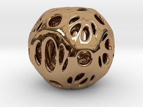 hydrangea ball 03 in Polished Brass