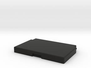 Pill Box with custom logo in Black Natural Versatile Plastic