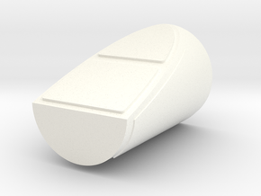 1/48th scale Side Booster Cap for Hawk Right in White Processed Versatile Plastic