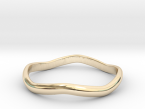 Ring Weaved Shape Design Size 5.5 in 14K Yellow Gold
