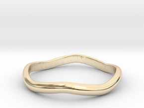 Ring Weaved Shape Design Size 6 in 14K Yellow Gold