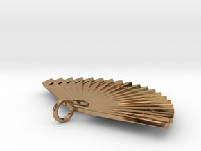 Fan in Polished Brass