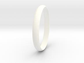 Ring Size 6 Design 3 in White Processed Versatile Plastic