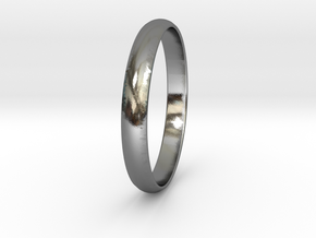 Ring Size 5 Design 3 in Polished Silver