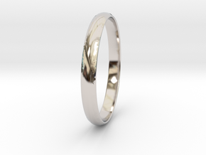 Ring Size 7.5 Design 3 in Rhodium Plated Brass