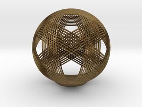 Icosahedron vertex symmetry weave in Natural Bronze