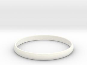 Ring Size 11 Design 3 in White Processed Versatile Plastic