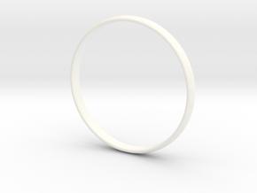 Ring Size 12.5 Design 3 in White Processed Versatile Plastic