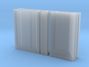 SciFi Pillar And Walls - Basic Wall Set Hollow in Smooth Fine Detail Plastic
