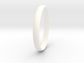 Ring Size 7 Design 4 in White Processed Versatile Plastic