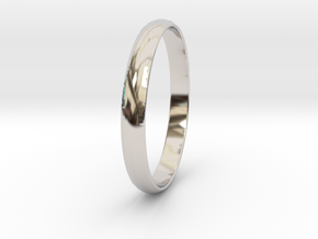 Ring Size 6.5 Design 4 in Rhodium Plated Brass