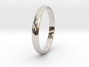 Ring Size 5.5 Design 4 in Rhodium Plated Brass