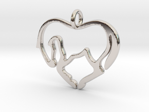 Horse Lover Pendant in Rhodium Plated Brass