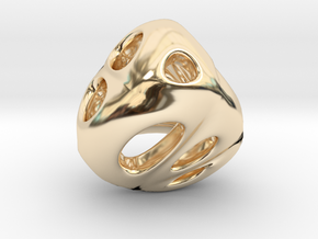 Chinese Jade 01 in 14k Gold Plated Brass