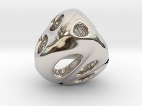 Chinese Jade 01 in Rhodium Plated Brass