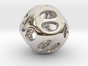 Chinese Jade 02 in Rhodium Plated Brass