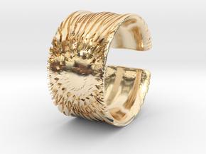Flower Cut Bracelet in 14k Gold Plated Brass
