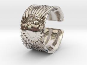 Flower Cut Bracelet in Rhodium Plated Brass