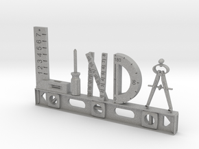 Linda Nametag in Aluminum