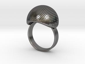 VESICA PISCIS Ring Nº1 in Polished Nickel Steel