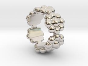 New Flower Ring 14 - Italian Size 14 in Platinum
