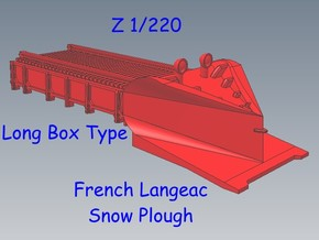Z 1-220 French Long Langeac Railway Snow Plough in Smooth Fine Detail Plastic