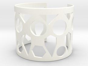 Cubic Bracelet Ø63 Mm Style A Medium/2.48 inch in White Processed Versatile Plastic