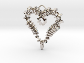 Heart of my Soul Pendant in Rhodium Plated Brass