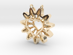 Expand your Reach Pendant in 14k Gold Plated Brass