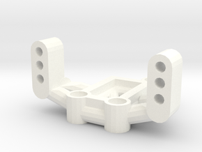 Mrc Servo Mount in White Processed Versatile Plastic