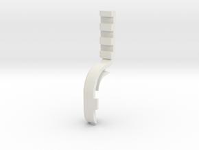 Laser 002-right in White Natural Versatile Plastic